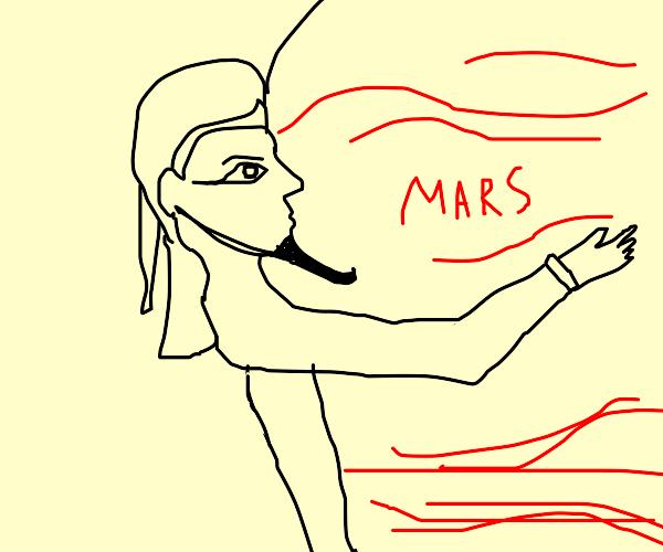 Pharaoh hugging Mars