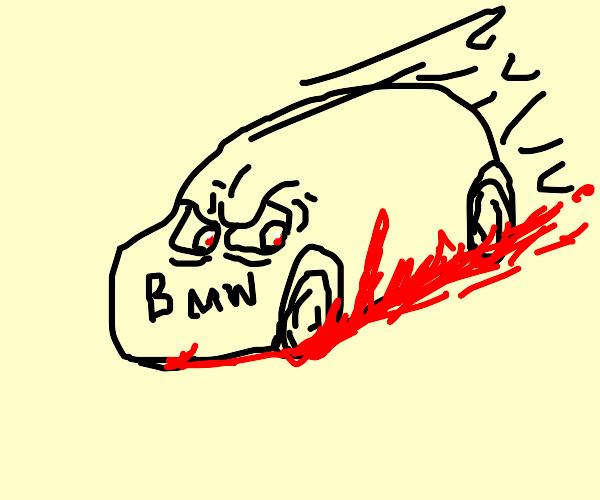 Man got run over by a car that hates him