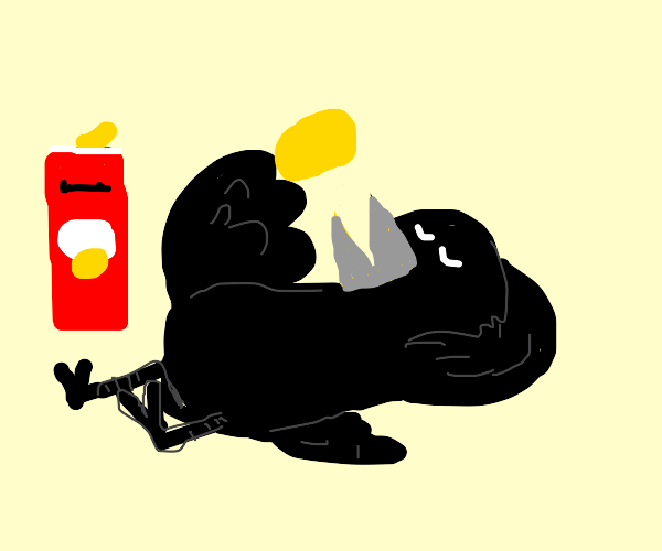 Crow is chilling and eating chips