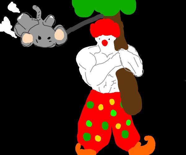 Strong clown