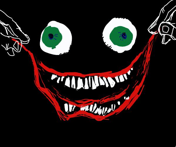 Creepy smile