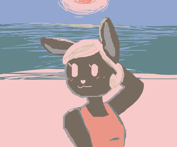happy bunny girl