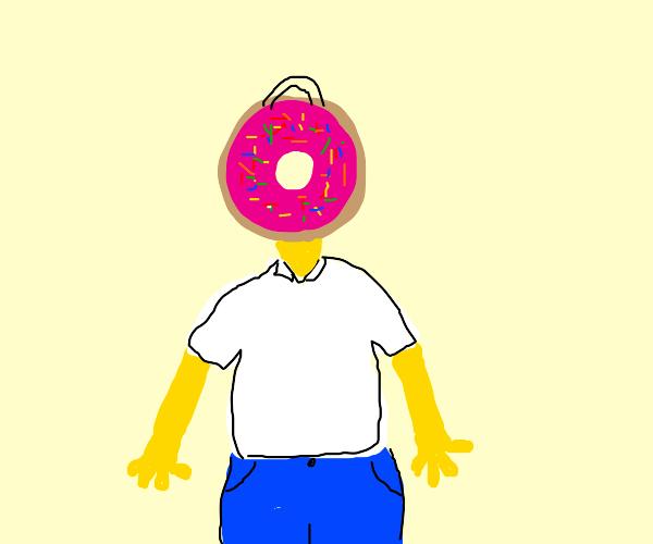 homer simson head is donut!!!