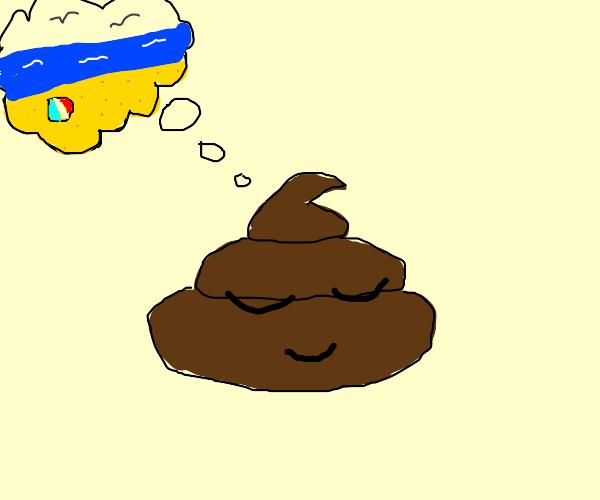 Poop dreams of the beach