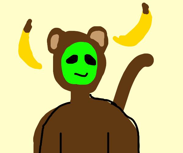 Alien in monkey suit