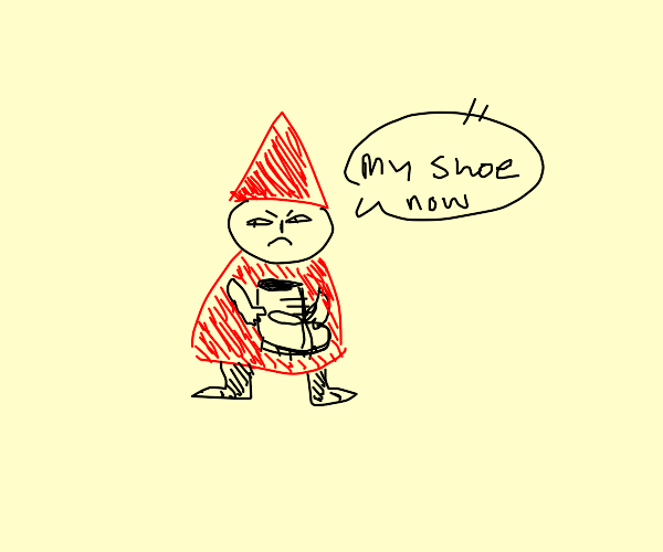 Gnome steals a shoe