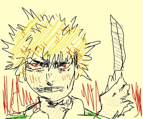Murderous spiky-hair man