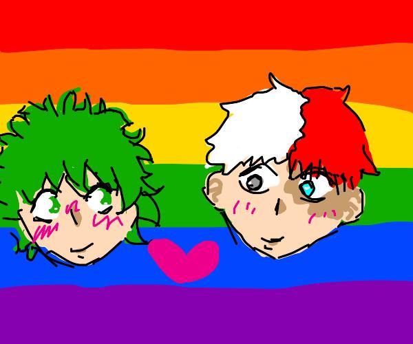 Gay Todoroki and deku