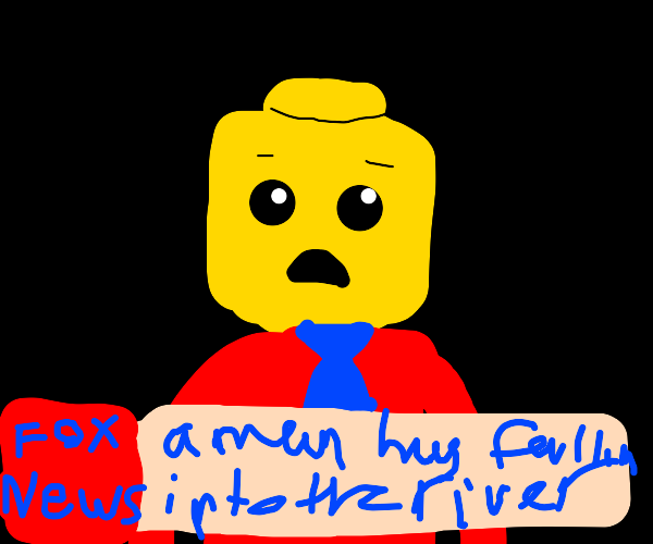 yellow man reporting for fox news