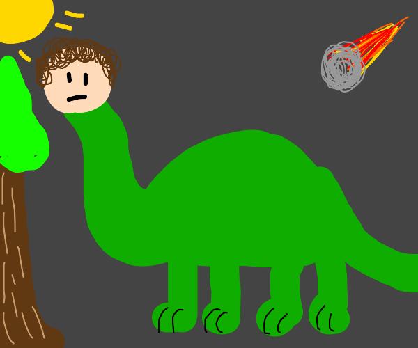 Dinosaur with human head