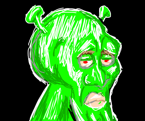 Handsome Squidward but it's Shrek