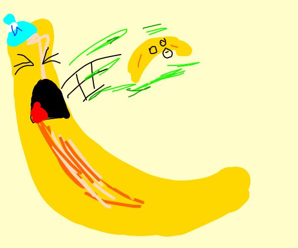 Banana vomiting banana