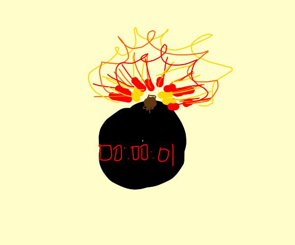 Bomb is exploding