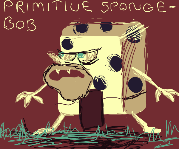 Caveman spongebob