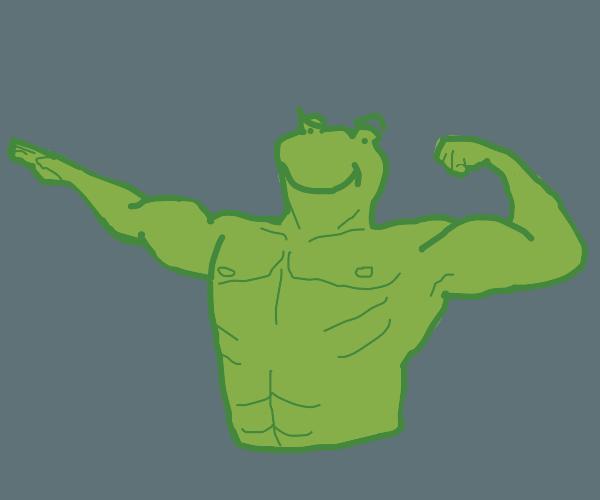 Buff frog flexing