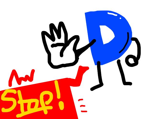 drawception says STOP