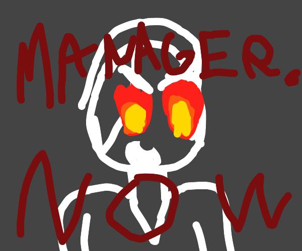 Karen demands to see manager in burning rage