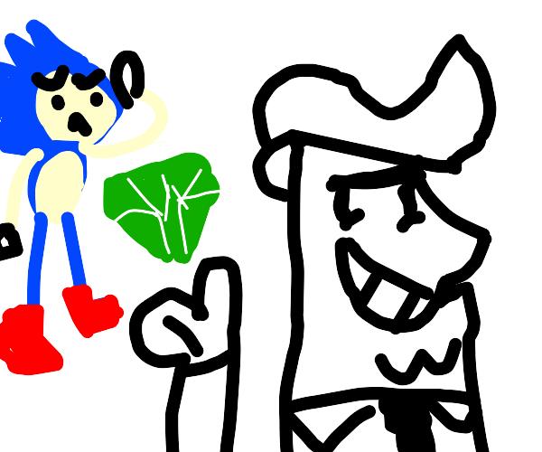 Timmy Turner's Dad steals Sonics's Emeralds