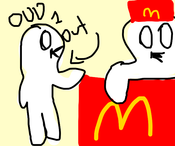 theodd1sout ordering McDonald's