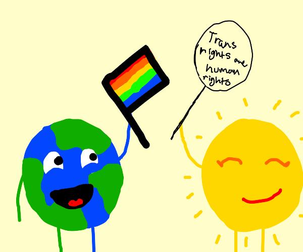 earth and sun celebrate pride month