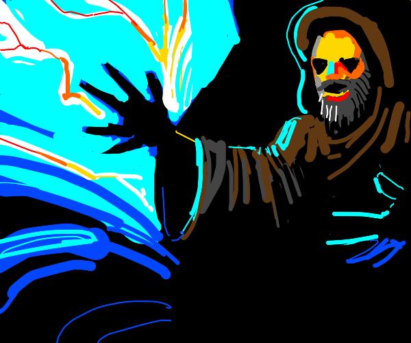 Wizard casts storm spell
