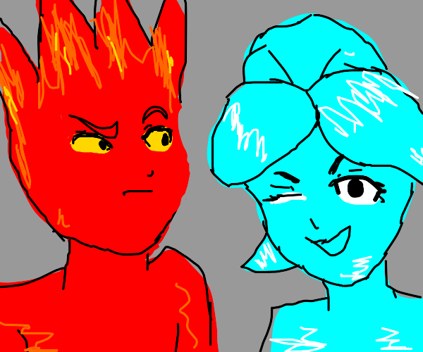Fire Boy and Water Girl are BFFs