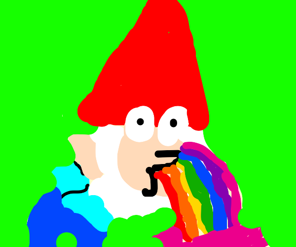 Barfing rainbows