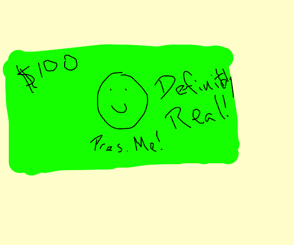 kid made fake $100