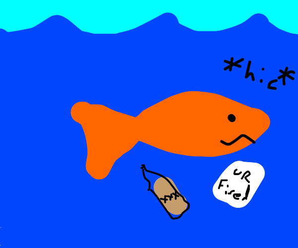 Alcoholic unemployed fish wallow in self-pity