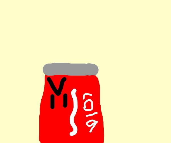 Evil Coca-Cola can