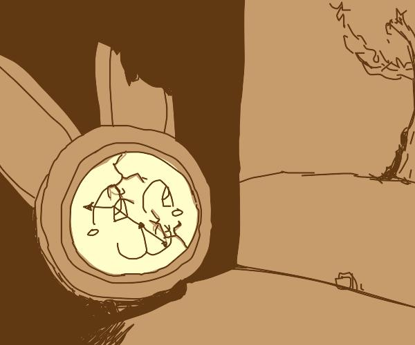 Broken rabbit alarm clock