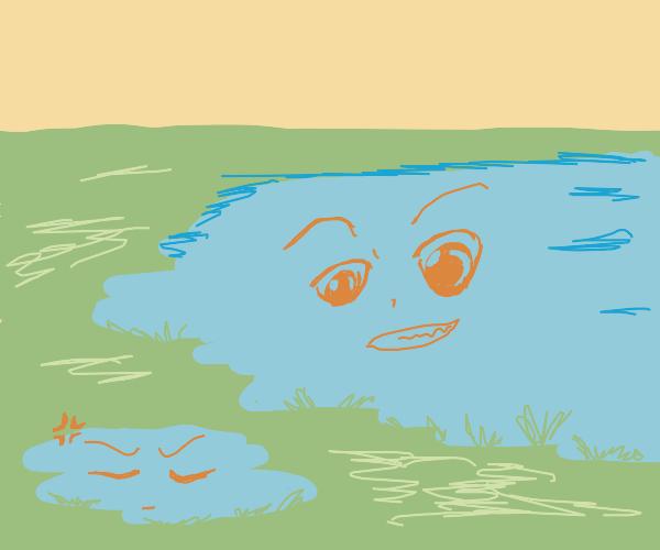 Pond chan angry at lake kun