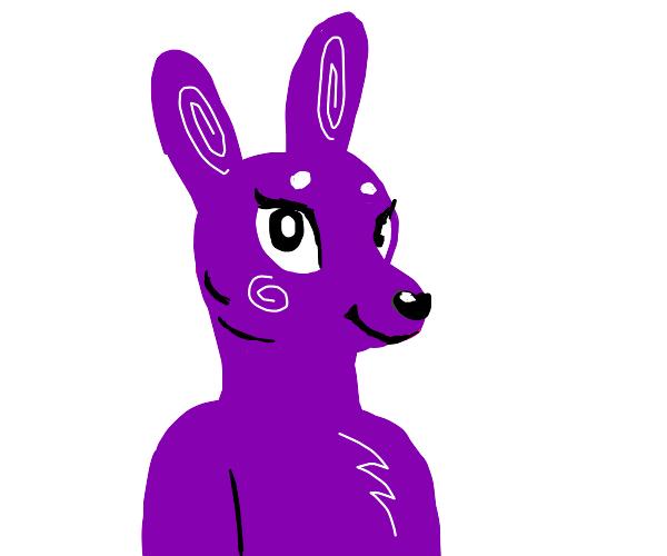 Purple Bunny furry girl