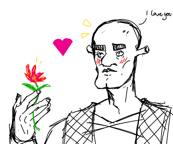 Shrek in Love With a Flower