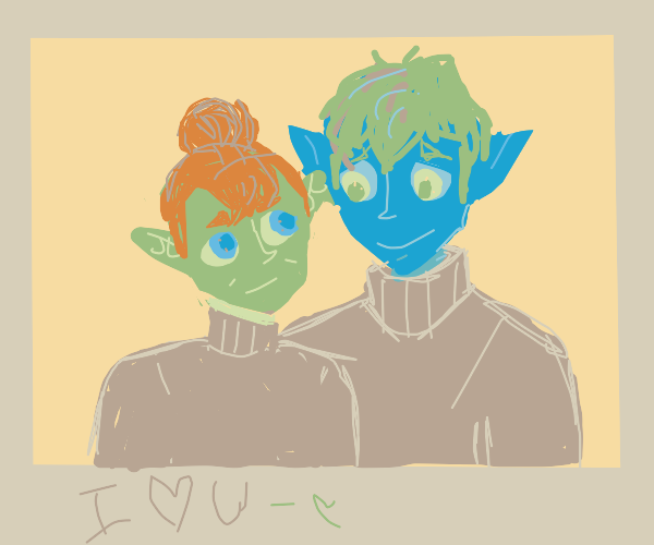 Alien couple photo
