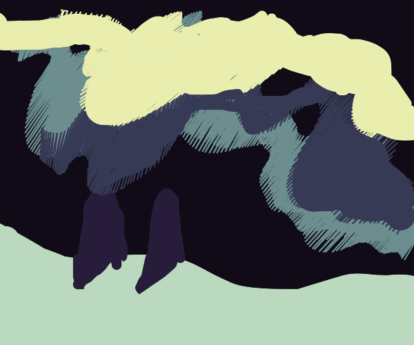 Penguins watching the aurora borialis