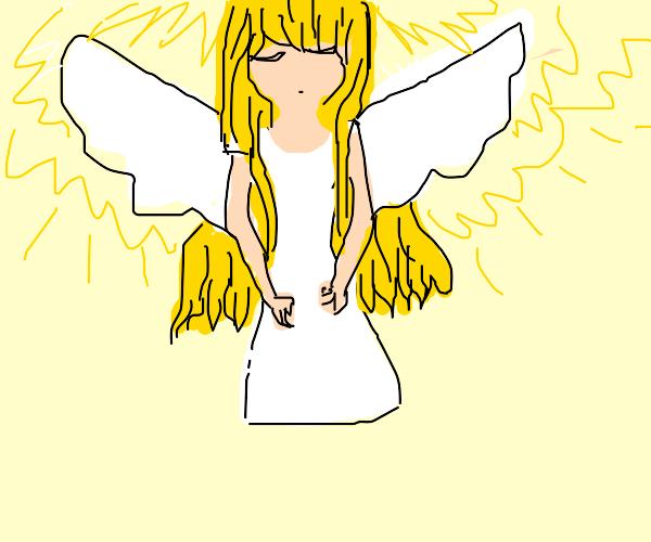 Angel descends