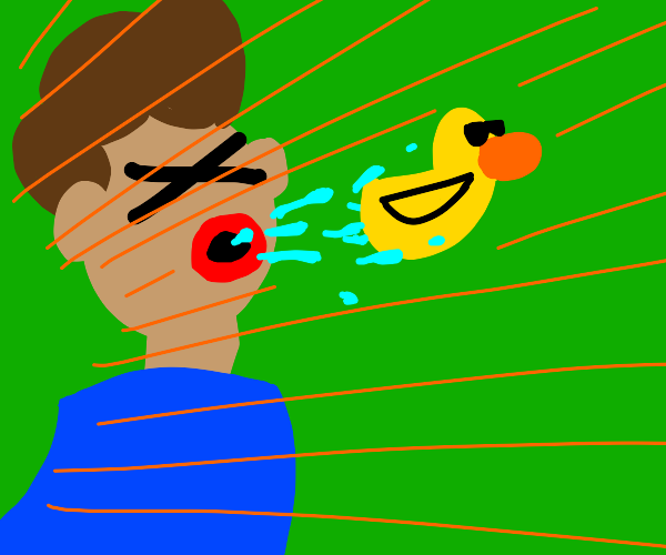 duck spitting