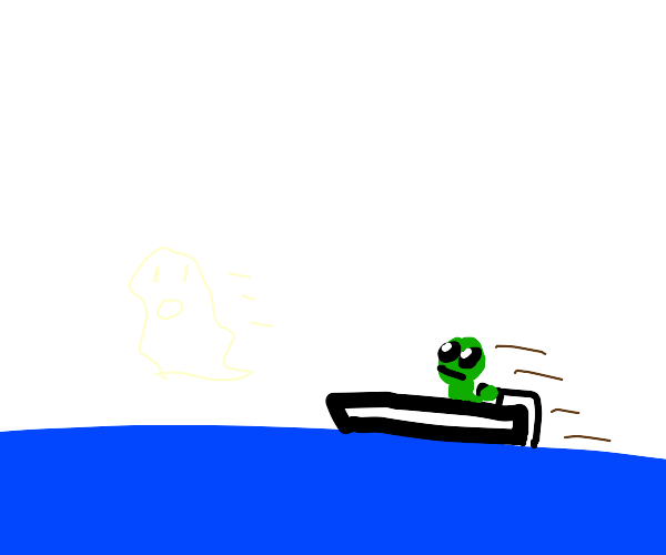 Ghost scared of speeding alien ship