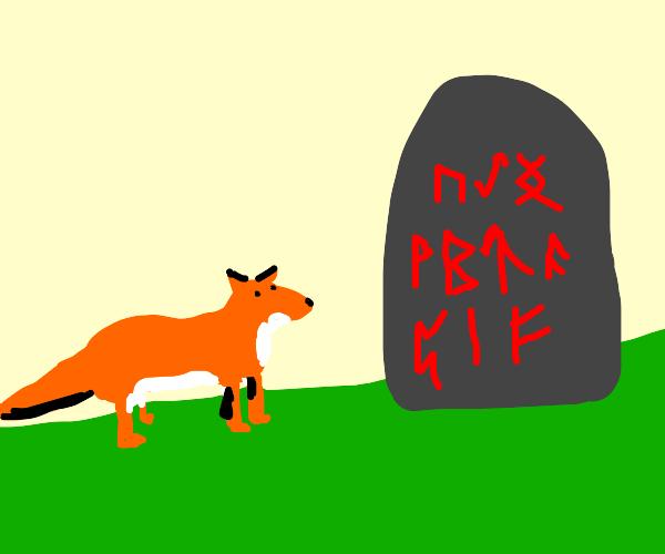 Fox and viking runes