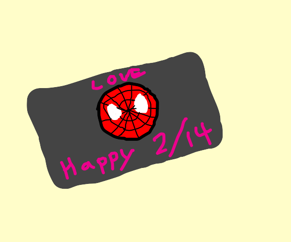 A super hero themed valentines card
