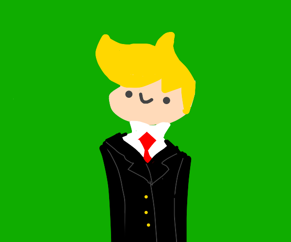 Chibi blonde in a suit