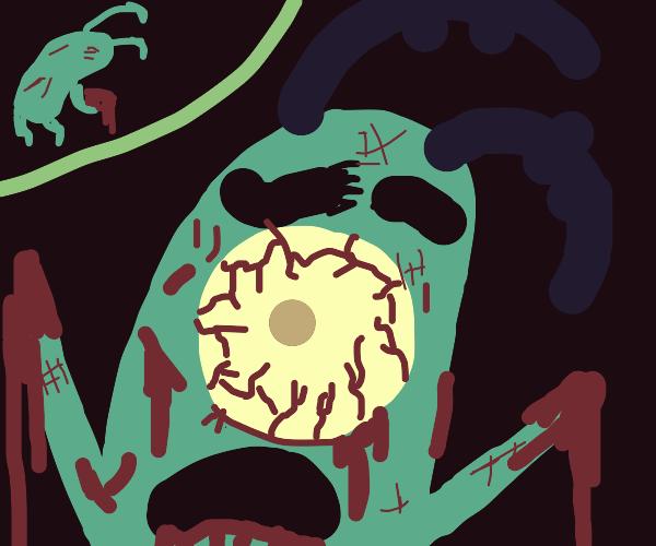 Plankton becomes a zombie