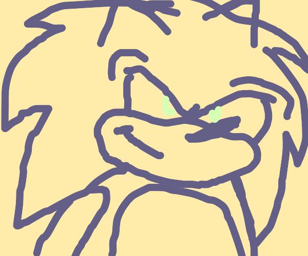 Sonic the hedgehog in red velvet cake
