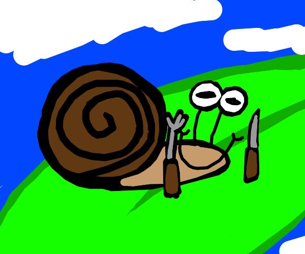 Snail Eats Leaf