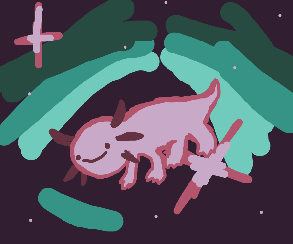 axolotl in space!