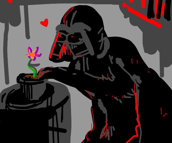 Darth Vader tending to his garden