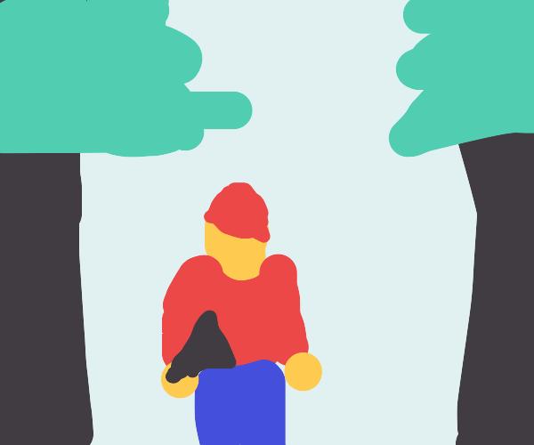 Canadian Lumberjack in Snow
