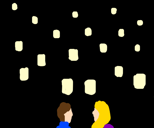 Rapunzel and the floating lanterns