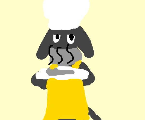Eeyore baking a Spoon